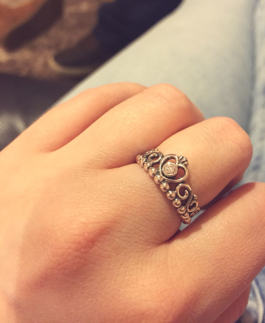 027f44b96 My gorgeous new Pandora princess tiara ring! #pandora #ring #jewellery