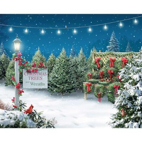 Christmas Tree Lane Jigsaw Puzzle, 1000 pcs - Herrschners #wreath