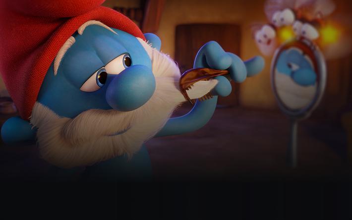 Download Wallpapers Smurf 4k Cartoon Characters 3d