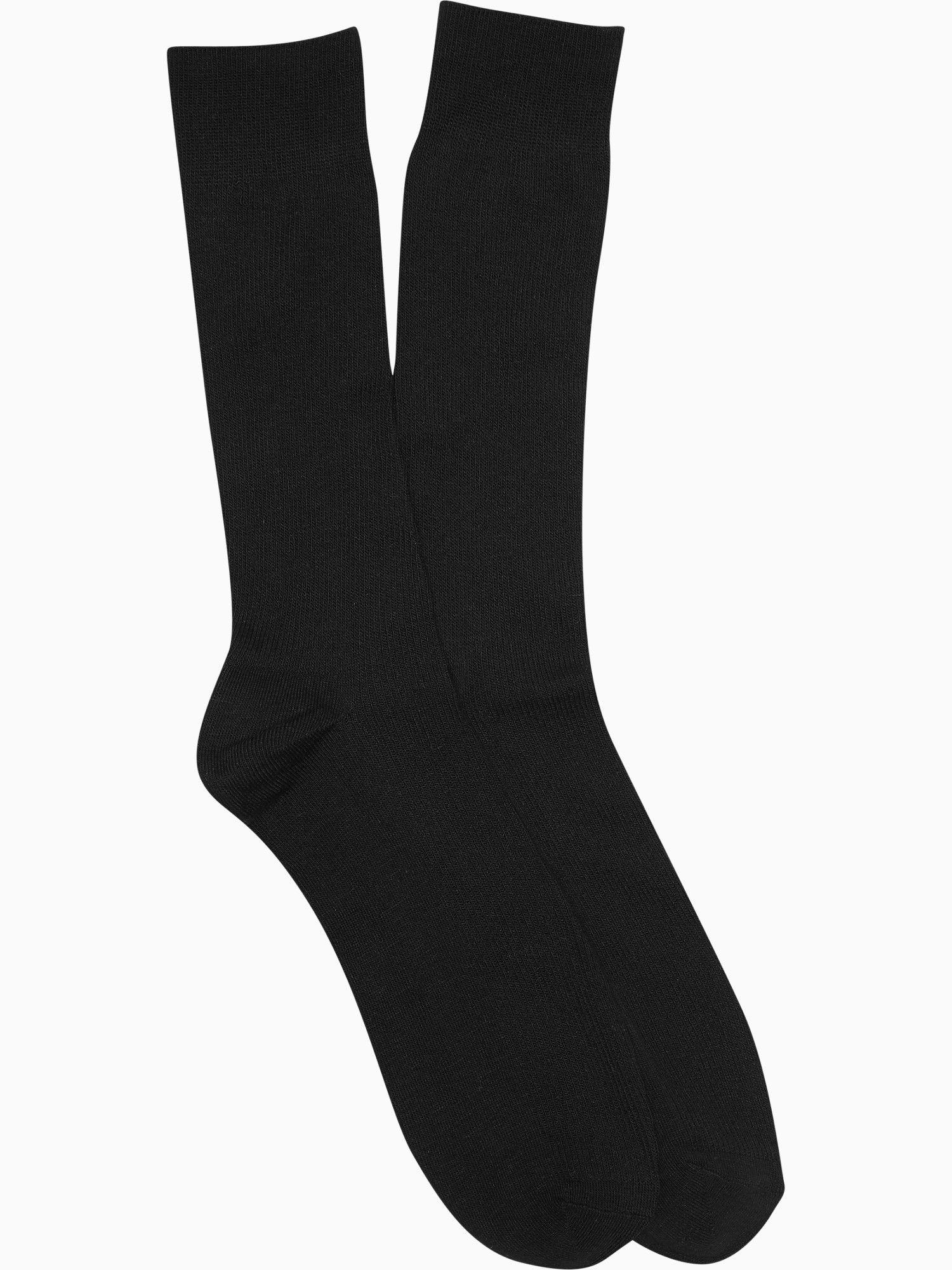 A l c black dress socks