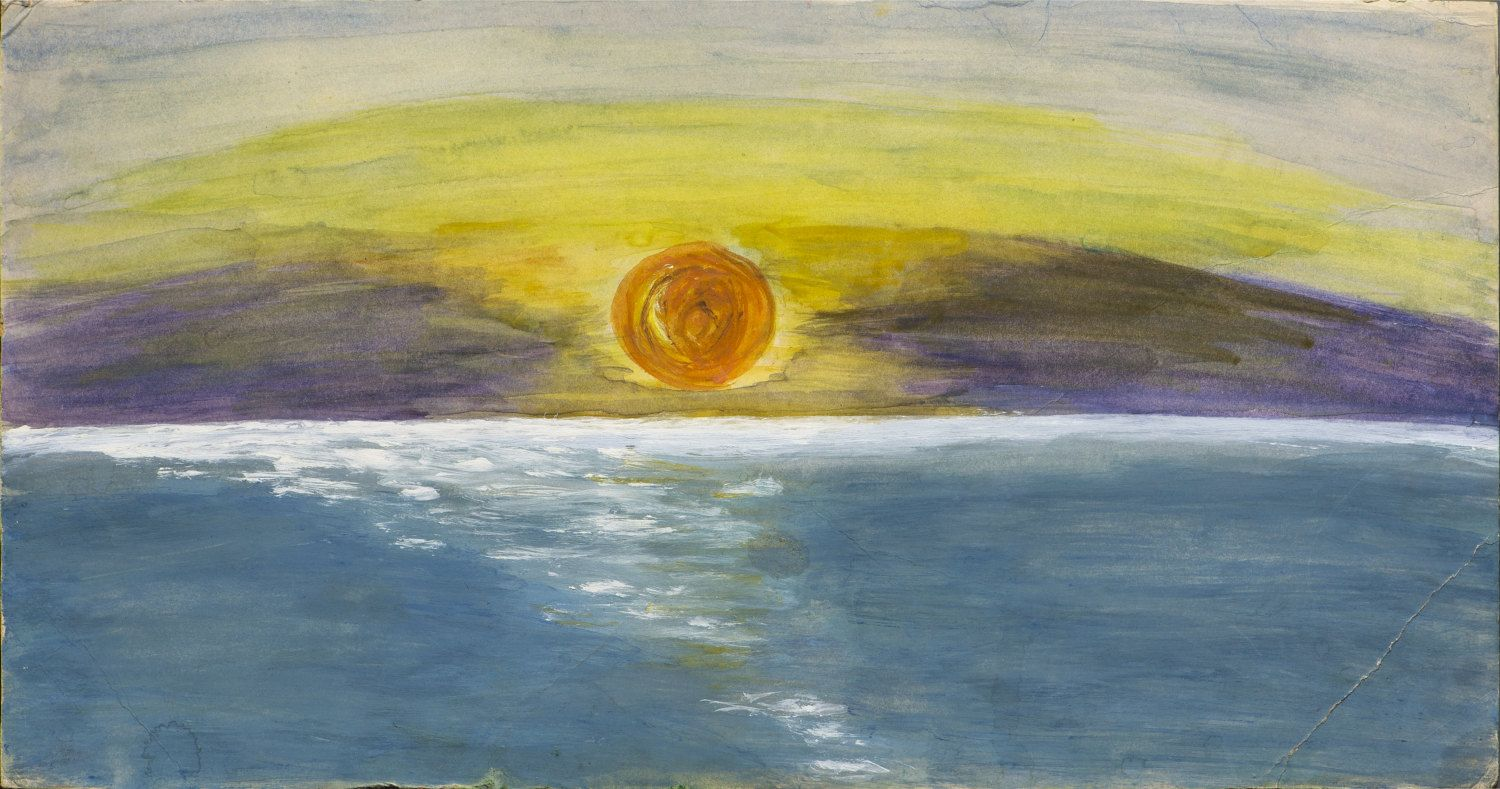 Original Mixed Media Painting - Warmness in Cold -Sunset Sea ...