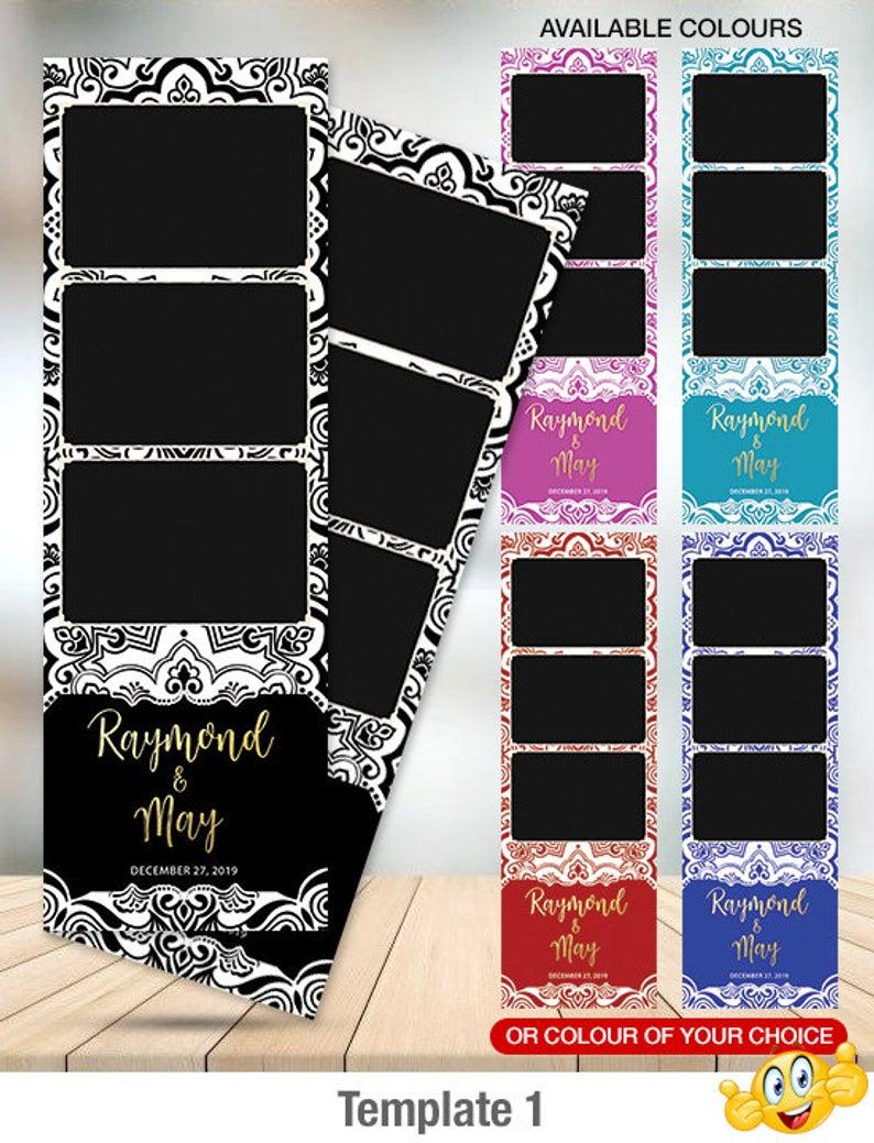 2x6 Photo Strip Photobooth Template Printable Custom Photo Etsy Photobooth Template Photo Booth Design Instagram Cutout