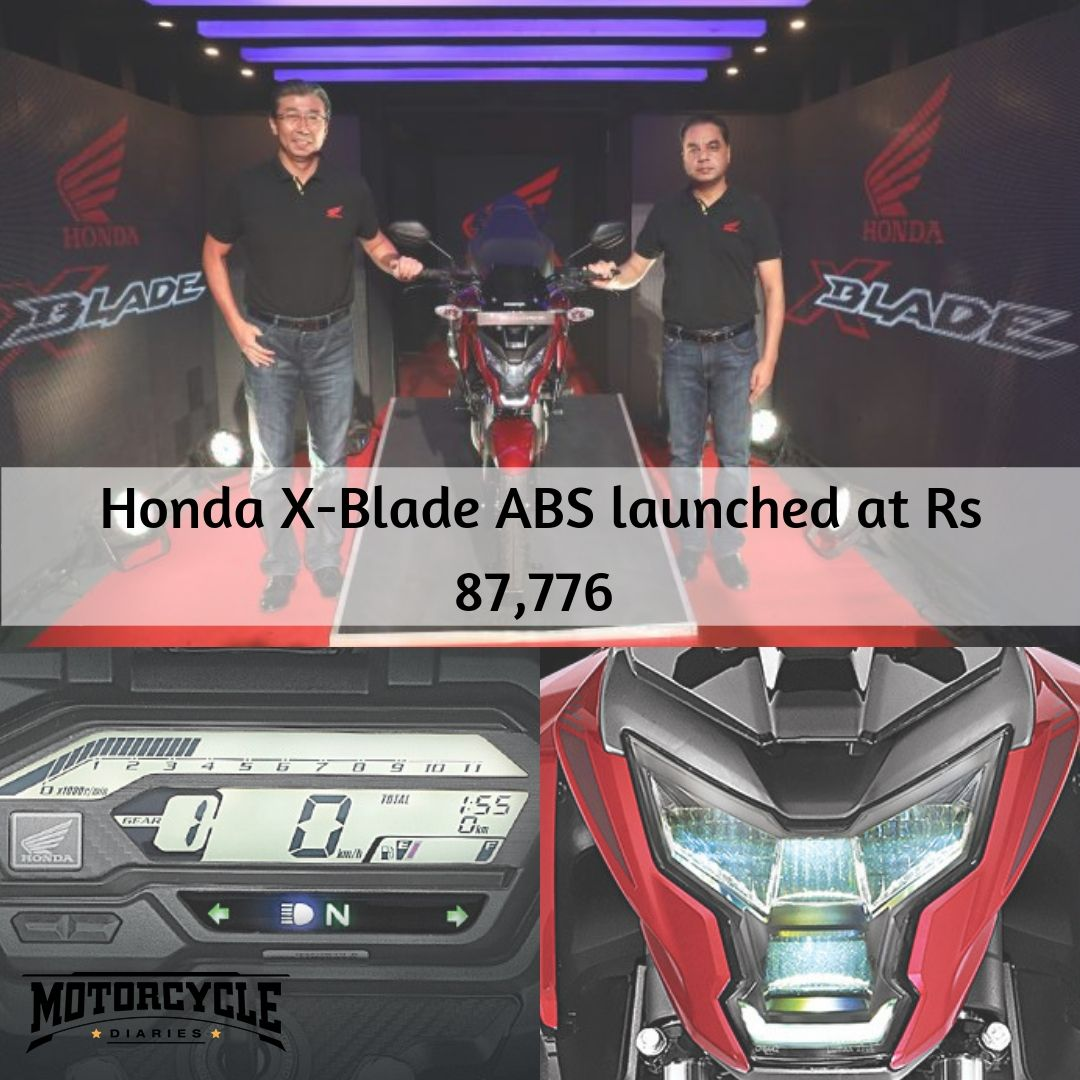 Honda X Blade Abs Price In India At Rs 87 776 Launch In India