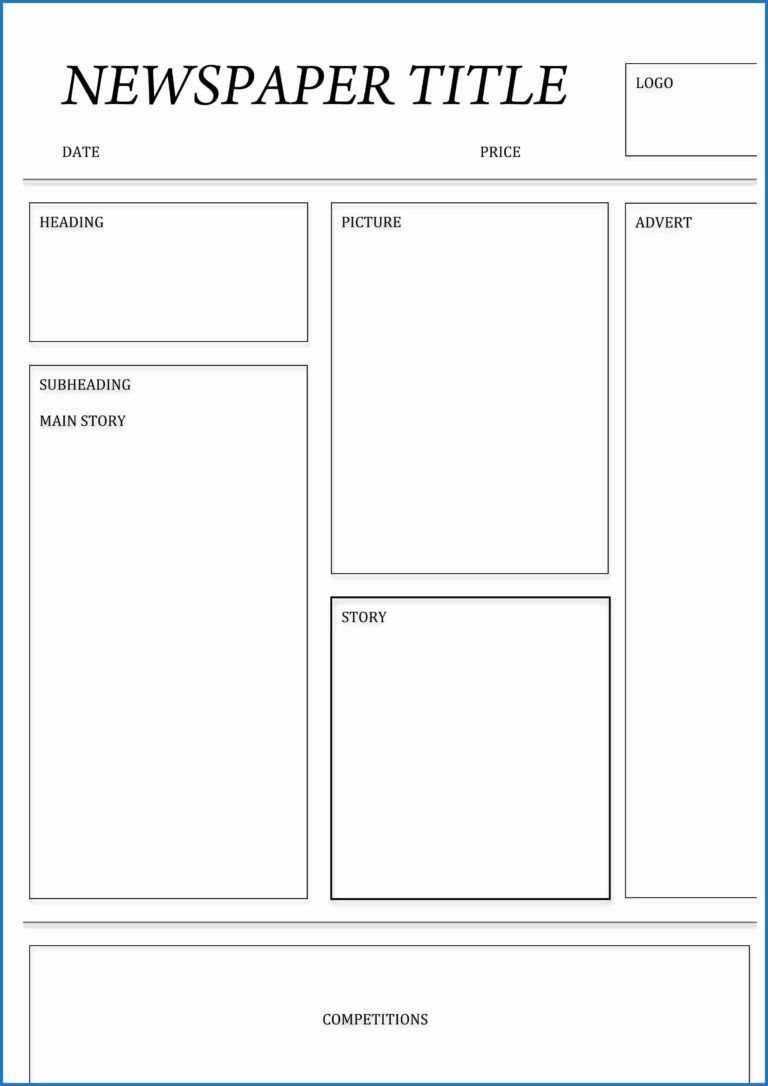Blank Newspaper Template Microsoft Word In 2020 Newspaper