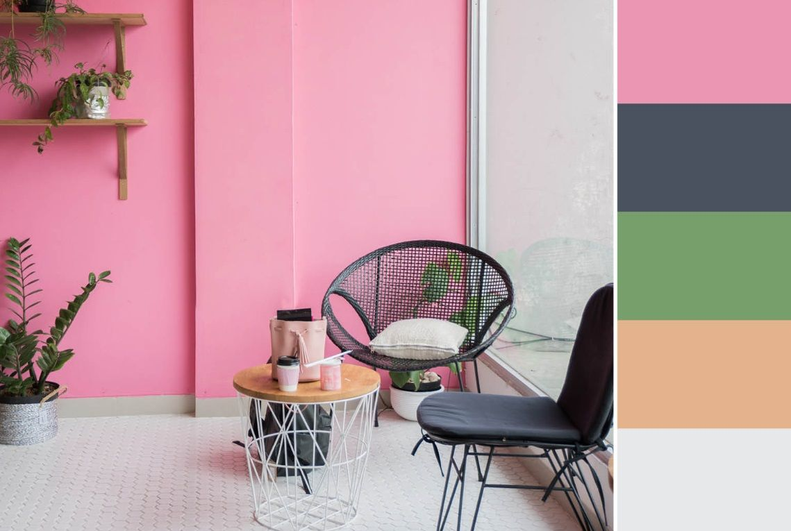 Photo of Ideal Colors For Living Room Light Pink, Blond And Green