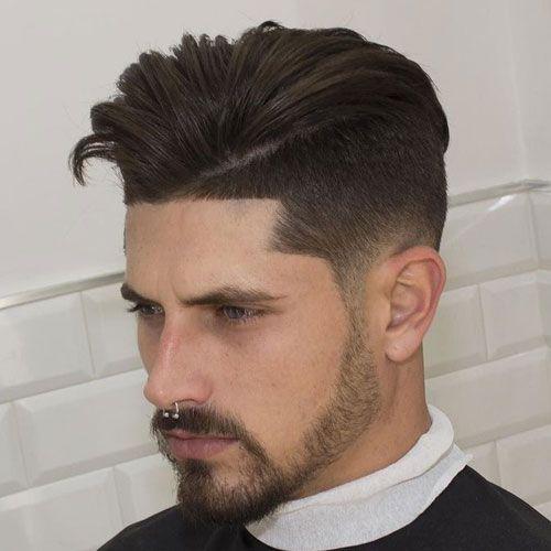 Low Taper Faded Undercut Edge Up Quiff Mid Fade Haircut Haircuts For Men Fade Haircut