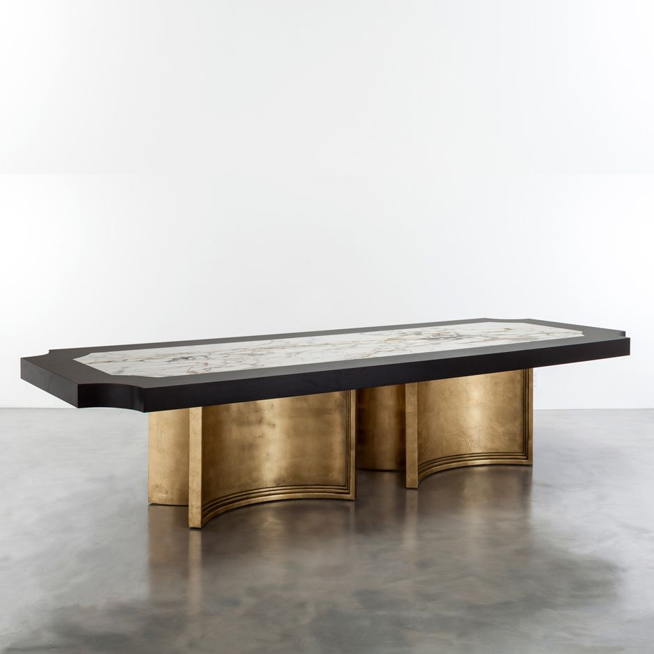 Brussels Grande Pedestal Dining Table Shine By S H O Contact