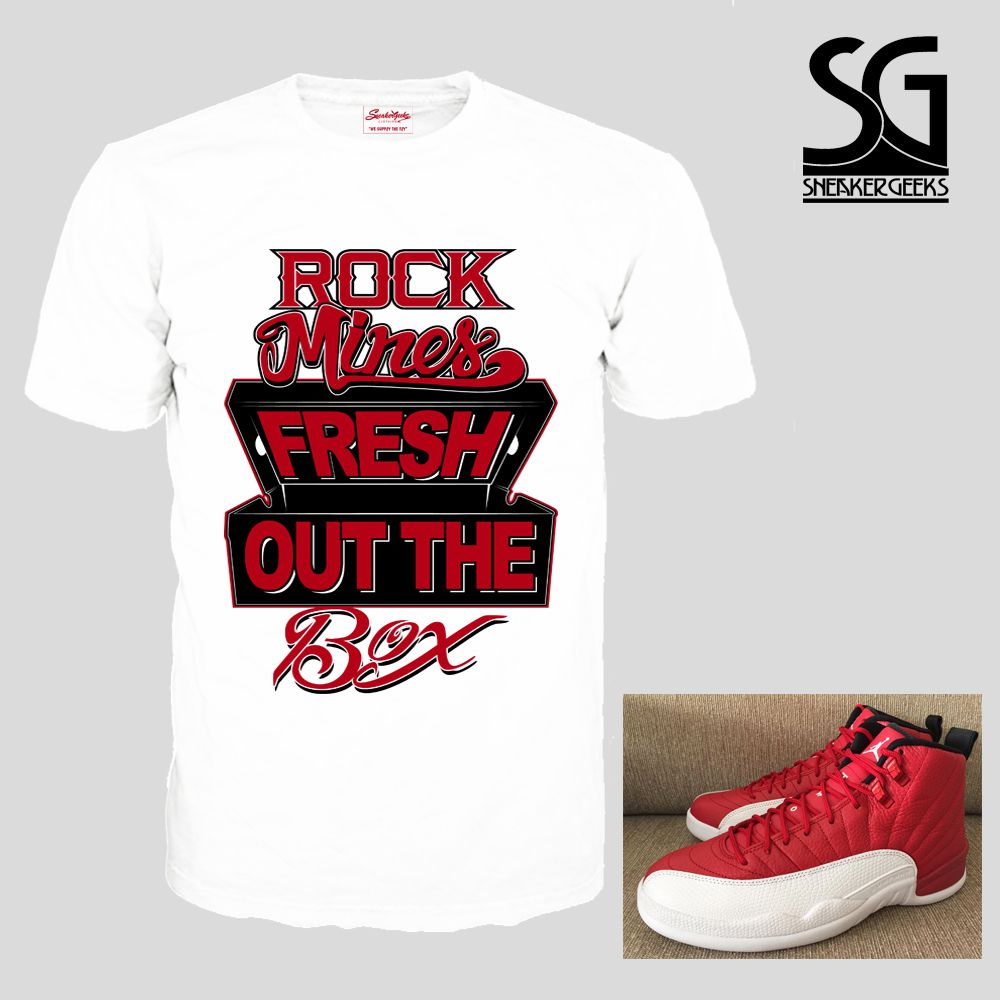 6ee11d846e3 fresh-out-the-box-t-shirt-to-match-jordan-12-gym-red-4.gif (1000×1000)