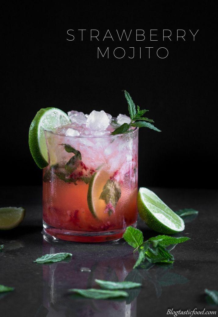 Strawberry Mojito Cocktail #cocktaildrinks