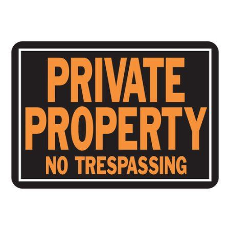 Decorative Private Property Signs Hyko Private Property No Trespassing Sign Set Of 12 Black