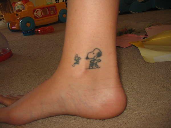 Snoopy And Woodstock Tattoo Tattoos Tattoos Friendship Tattoos
