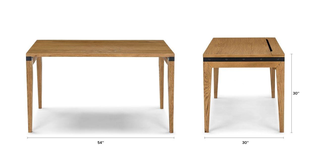 Madera Oak 54 Desk Scandinavian Furniture Mid Century Modern