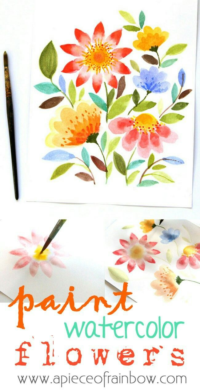 Watercolor Flowers By Lauren Murphy On Munchkin Activities