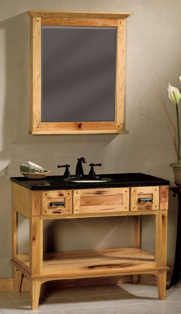 60 Hickory Bathroom Vanity 42 Shown 48 54 Or Woodpro Open Base With Optional