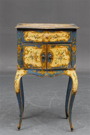 Italian commode 1950 39 s in 18th c venetian style painting for Mobili design italiani