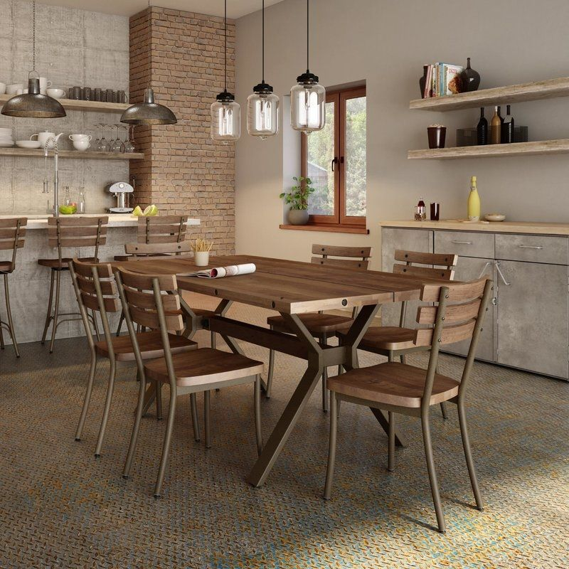Industrial Kitchen Table And Chairs Industrial Kitchen Table And Chairs 17 Stories Darcelle 5 Piece Industrial Dining Set Wayfair Emerson Austin Industrial