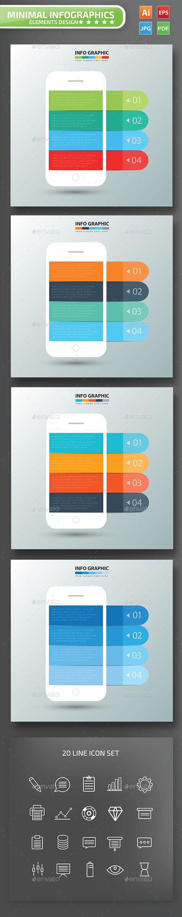 Mobile phone Infographic Design Infographic design