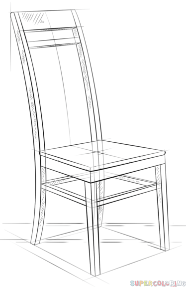 How To Draw A Chair Step By Step Drawing Tutorials Drawing Furniture Drawing Tutorial Step By Step Drawing