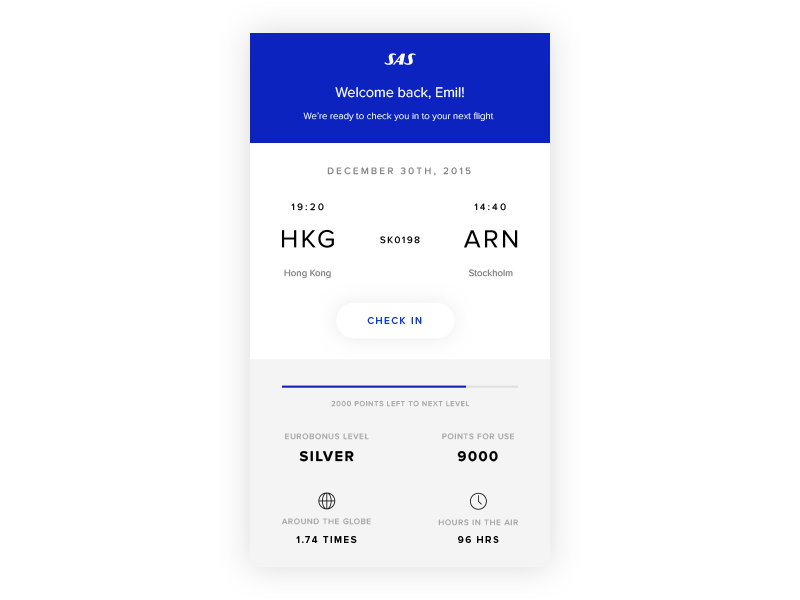 Scandinavian Airlines App Concept Web App Design Scandinavian Design Graphic Scandinavian Design