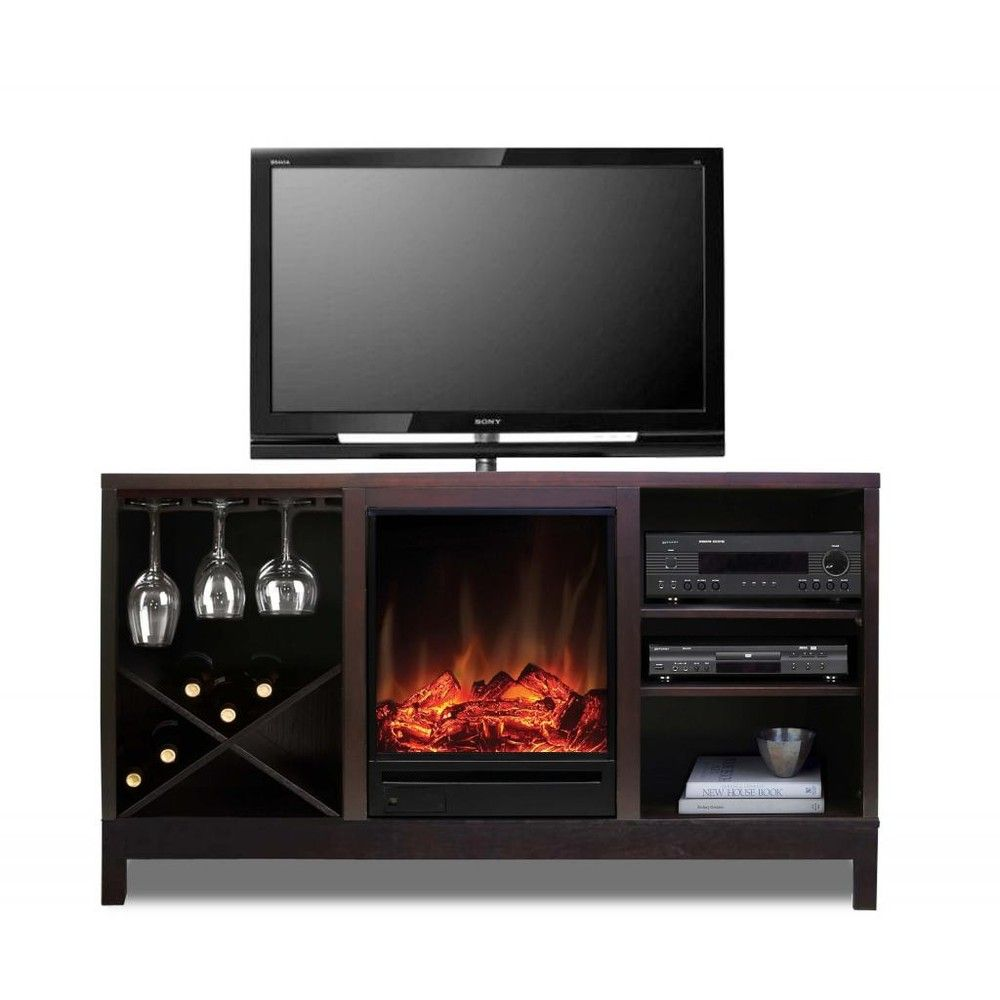 Electric Fireplace Wine Storage Media Centre Tv Stand W H A T Form Or Function