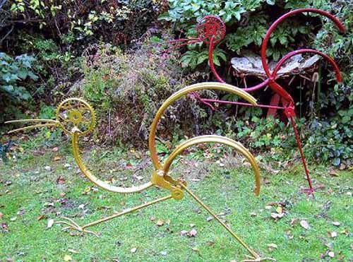 Scrap Metal Garden Or Yard / Outside And Outdoor Sculpture By Artist Alan  Jack Titled: