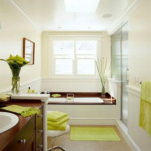 LowCost Bathroom Updates Accent Colors Green Accents And Stain - Low cost bathroom updates