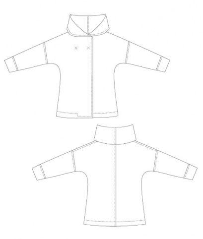 Schnittmuster Jacke Eve [Digital] | Die jacke, Kragen und Jacken