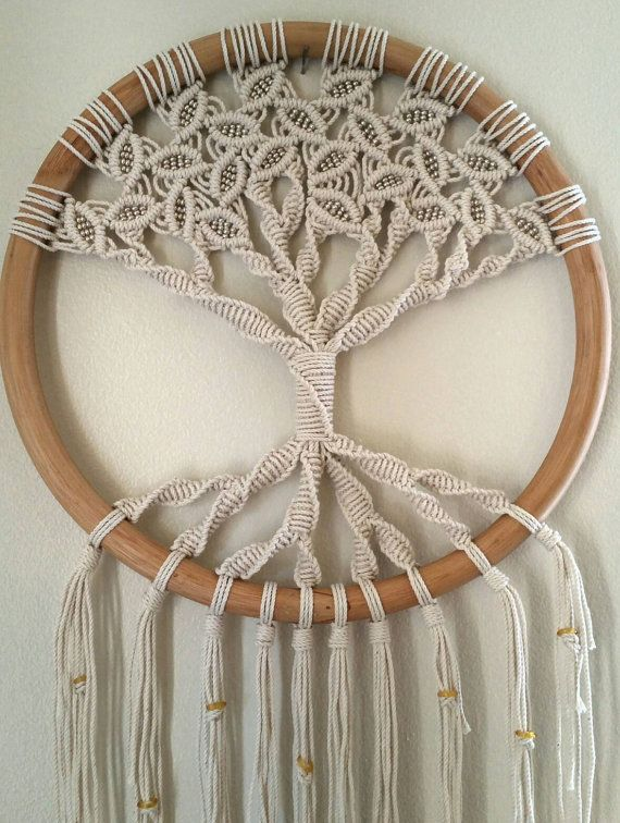 Tree Of Life Large Macrame Wall Hanging Circle Art