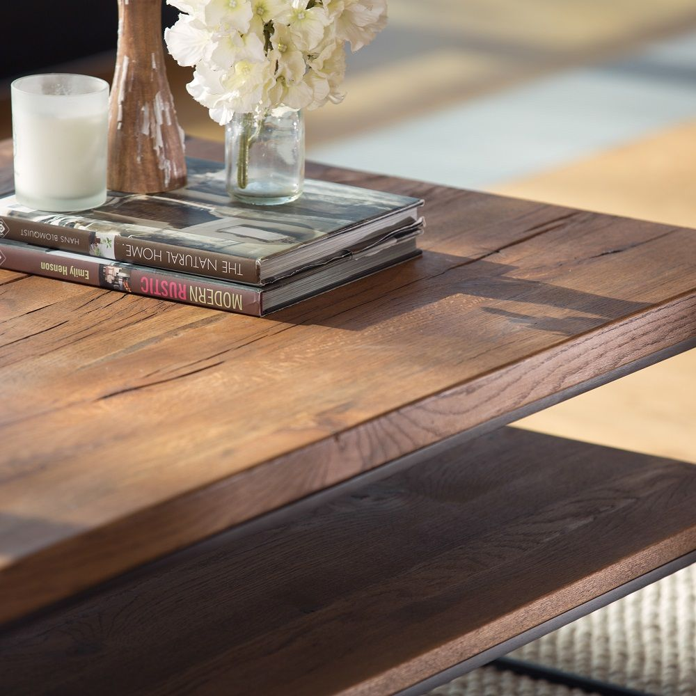 Table Basse Rectangulaire Oka En 2020 Table Basse Rectangulaire Table Basse Table Bois Brut