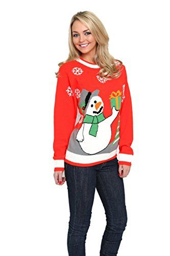 Amazoncom The Costumeshop Snowman Sweater Size Xl Red Clothing