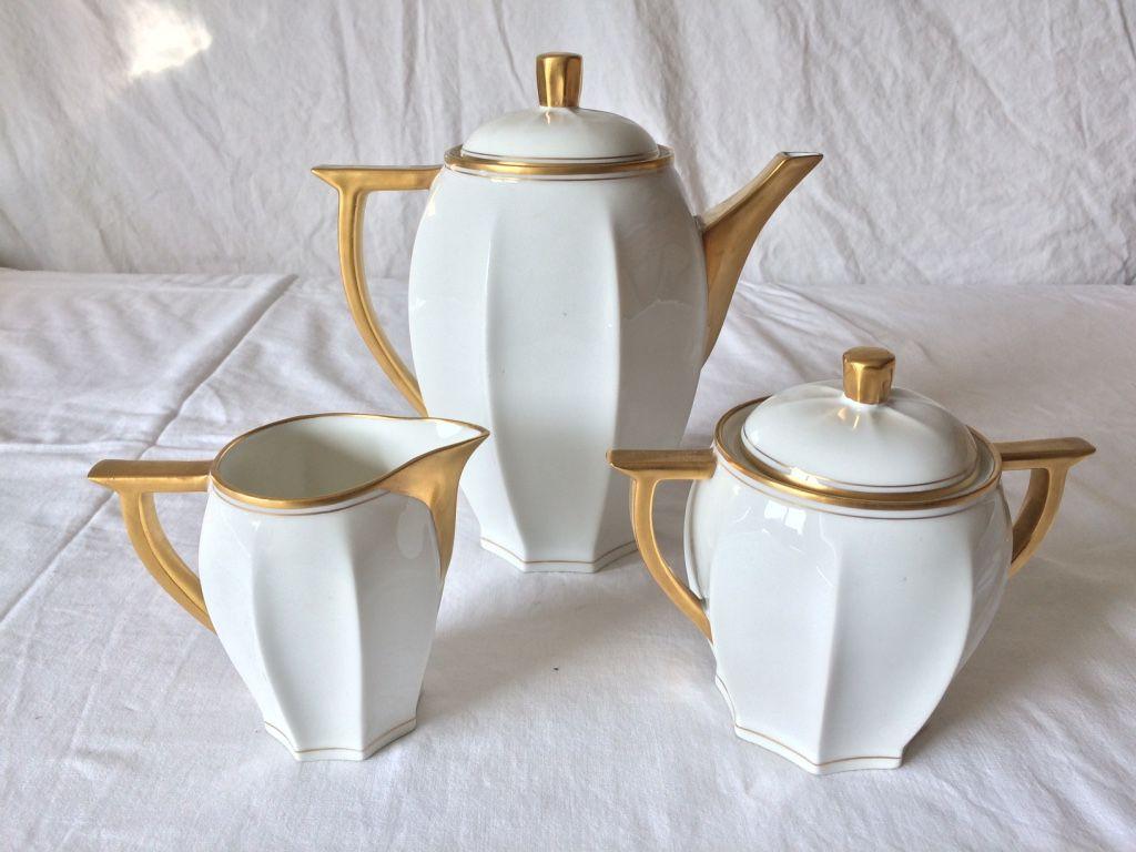 Service a caf en porcelaine de limoges art deco haviland for Proantic art deco