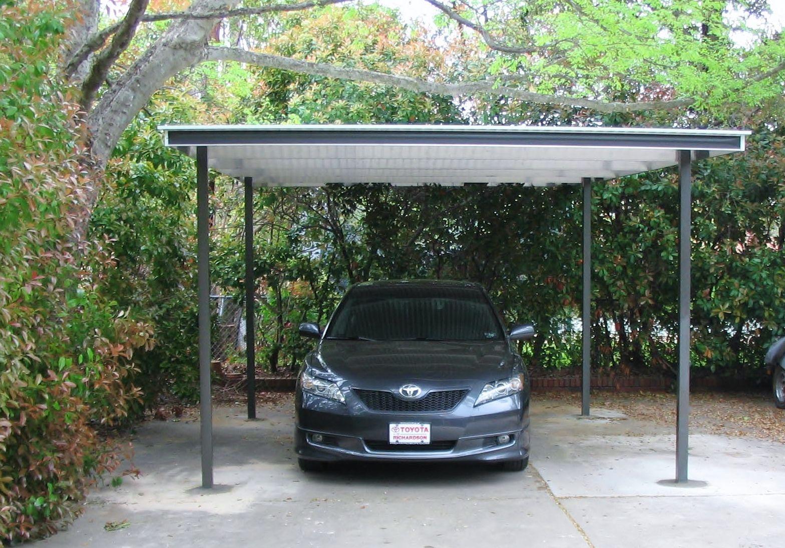 Single Freestanding Carport 14x20 Modern Home Patio Company