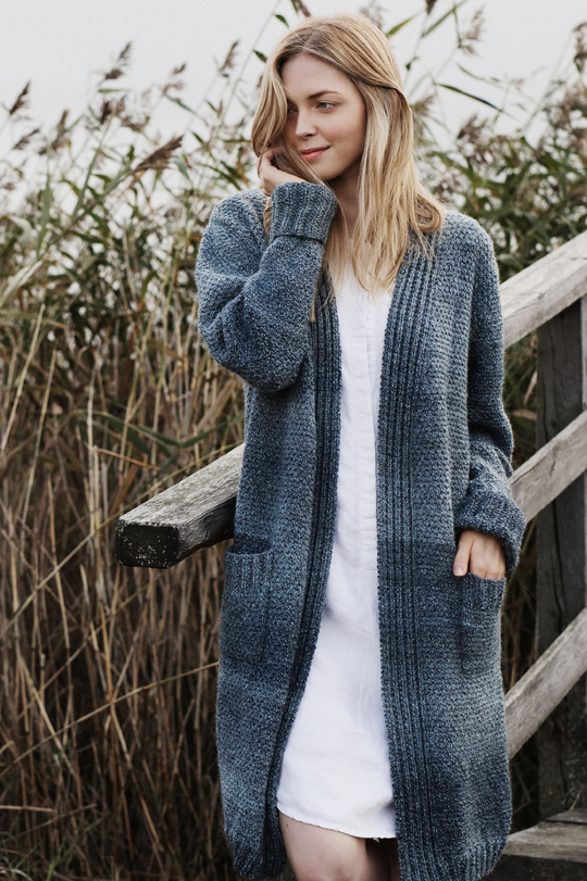 Free Knitting Pattern for a Women's Long Cardigan with ...