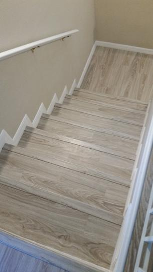 Zamma Brushed Oak Taupe 3 4 In Thick X 2 1 8 In Wide X 94 In Length Vinyl Stair Nose Molding 015543738 The Home Depot Stair Renovation Stair Makeover Diy Stairs