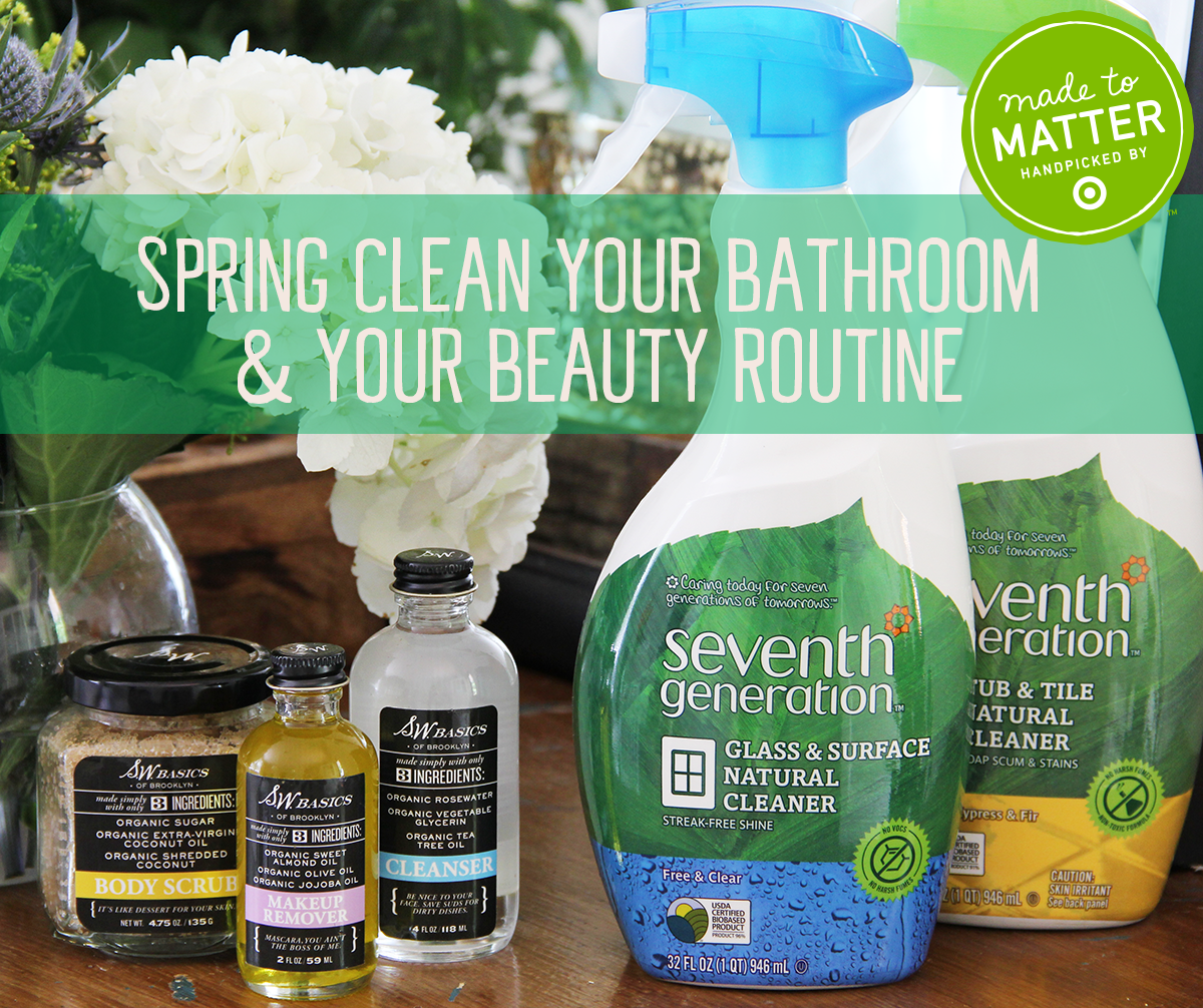 De-clutter your bathroom and your beauty routine this spring with Target's #MadetoMatter! We've teamed up with S.W. Basics to show you how.