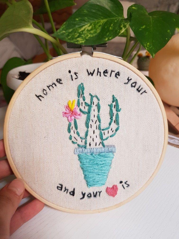 Cactus صباره Beauty Art Embroidery Art Embroidery