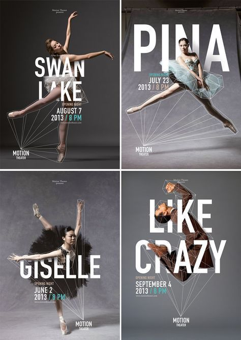 Ballet and Dance Posters for Motion Theater by Caroline Grohs | www.alicia-carvalho.com/blog