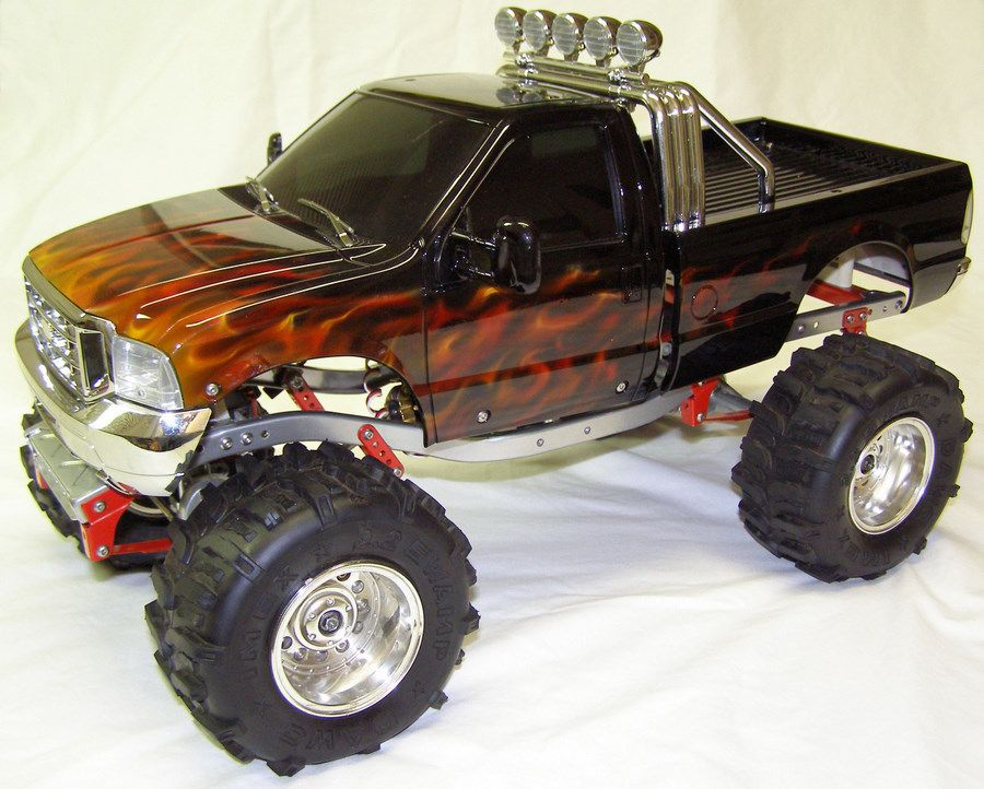 Custom Rc Cars Tamiya Bruiser Scaler With Custom True Flame - Custom vinyl decals for rc carsimages of cars painted with flames true fire flames on rc car