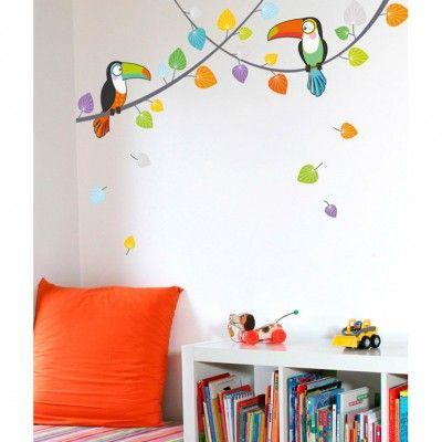 Ce sticker les toucans de la marque Série-Golo apporte un décor - stickers chambre bebe garcon pas cher