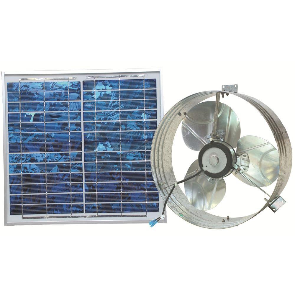 Ventamatic 433 Cfm Mill Electric Powered Gable Mount Solar Attic Fan Vxsolargableups The Home Depot Solar Attic Fan Solar Fan Solar Power