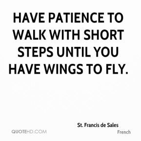 Have Patience To Walk With Short Steps Until You Have Wings To Fly