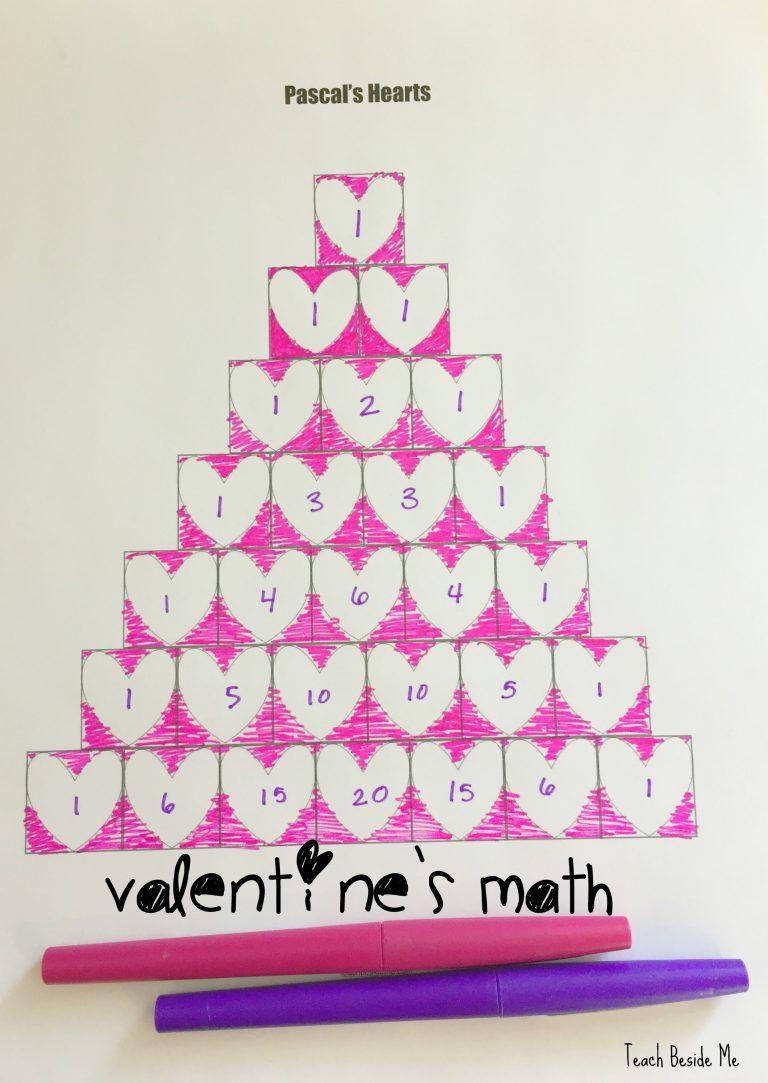 Valentine S Math Pascal S Triangle Math Valentines Holiday Math Pascal S Triangle