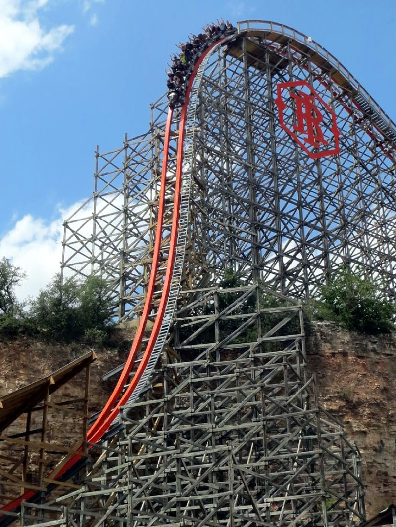 Just Might Have To Stop At This Park For A Day Iron Rattler At Six Flags Fiesta Texas San Antonio T Roller Coaster Ride Roller Coaster Amusement Park Rides