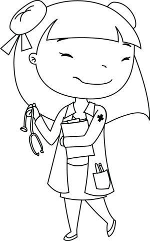 Downloadable Coloring Page Bekka Doctor