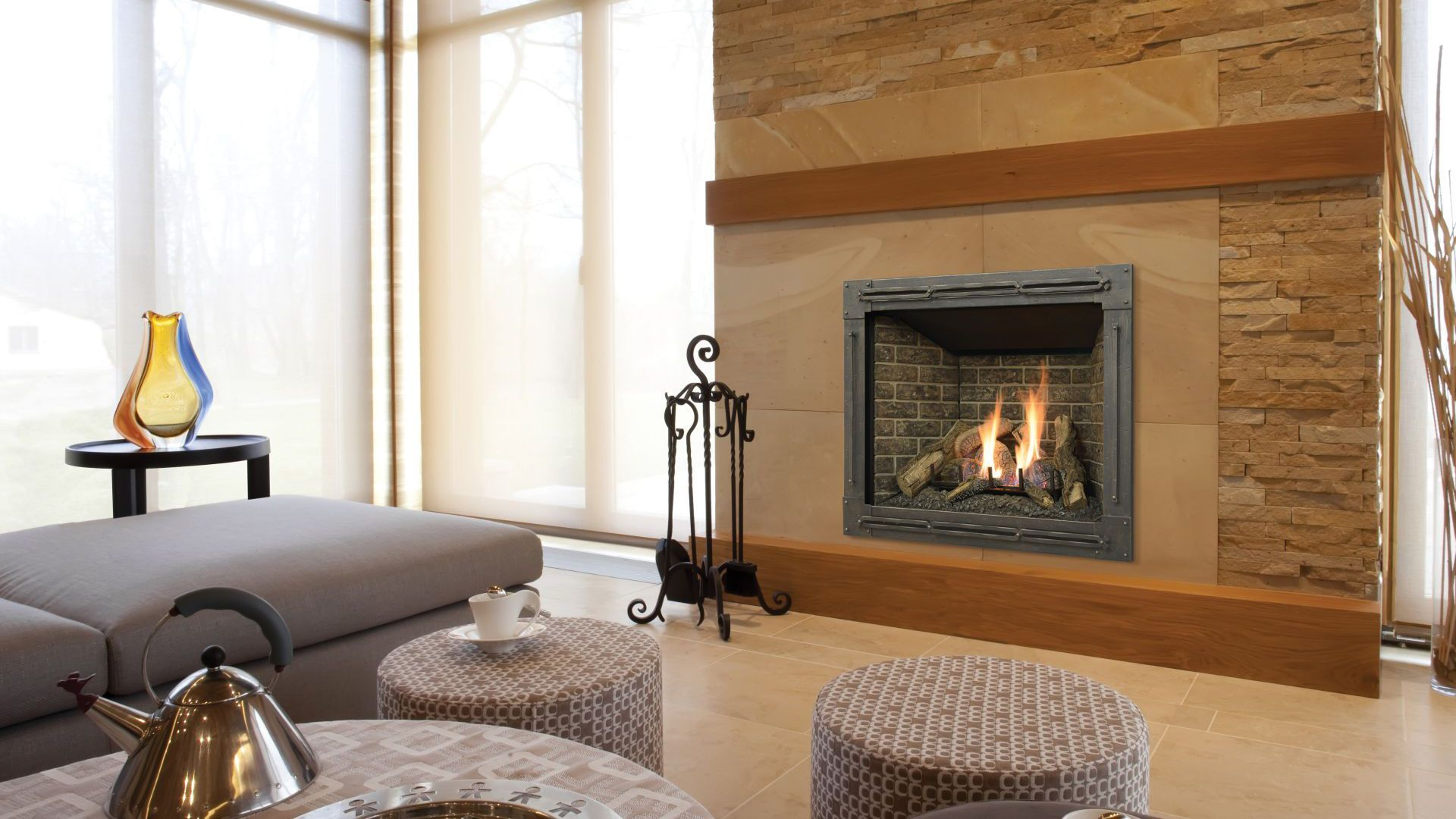 p our most popular 42 fireplace is now available in a clean face