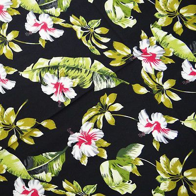 Indian-Fabric-Cotton-Voile-Black-Floral-Quilt-42-Width-Dress-Drape-By-1-Yard