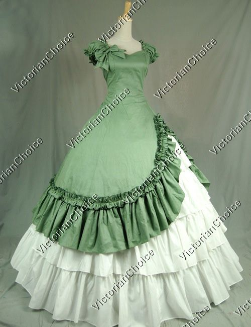 Southern Belle Victorian Ball Gown Dress Halloween Costume ...