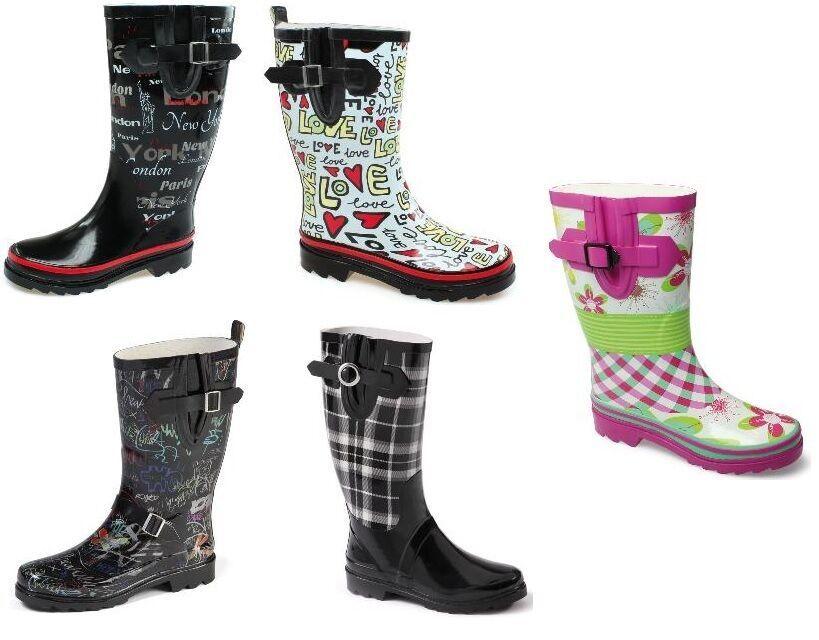 36,42 Damen Schuhe Regenstiefel Stiefel Gummistiefel Playshoes Gr