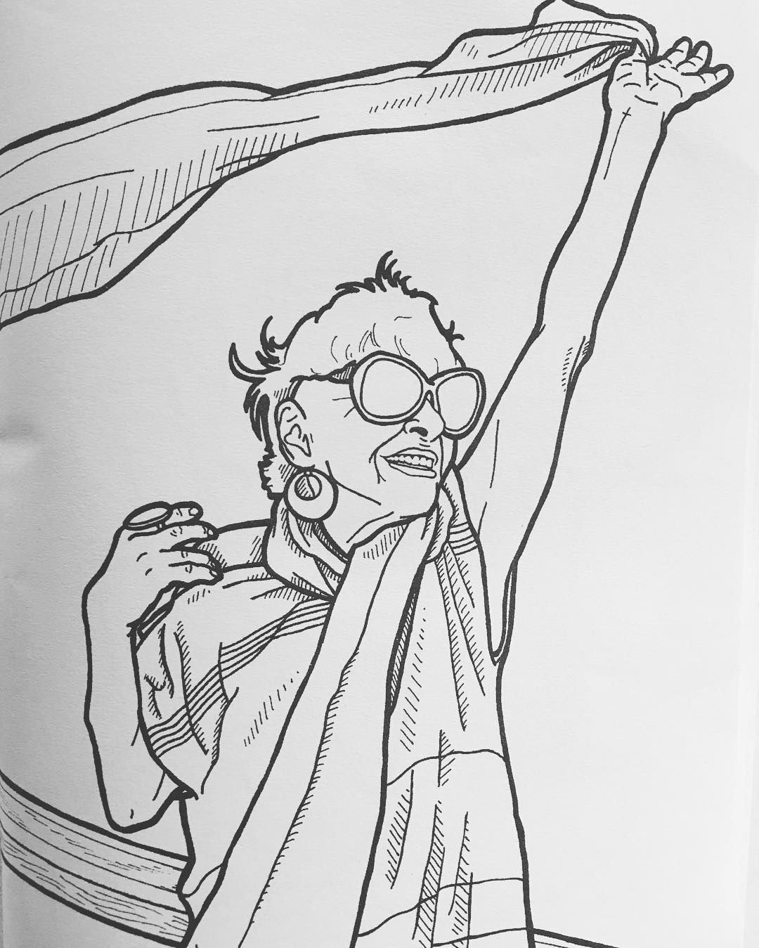 Ilona Royce Smithkin depicted in Advanced Style: The Coloring Book ...