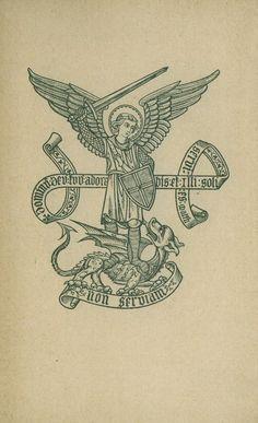 Saint Michel Terrassant le dragon, illustration